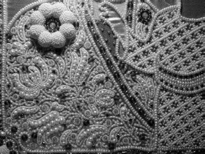 Вышитое платье бисером схема